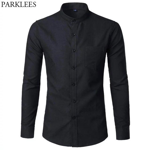 [해외] 남성용 옥스포드 슬림핏 드레스 셔츠 브랜드 만다린
