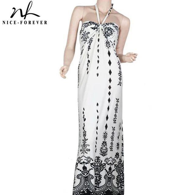 [해외] 니스-영원히 여름 여성 보헤미안 비치 프린트 드레스