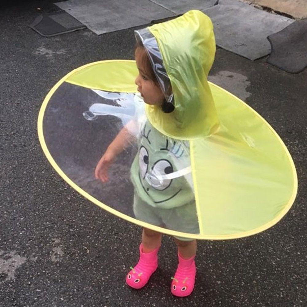 접이식 아동 우산 우비 비옷 장마 투명 아기 UFO