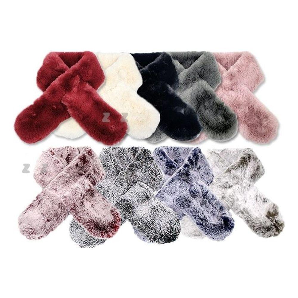 고급 밍크 머플러 겨울 목도리 여성 스카프 [제작 대량 도매 로고 인쇄 레이저 마킹 각인 나염 실크 uv 포장 공장 문의는 네이뽕]