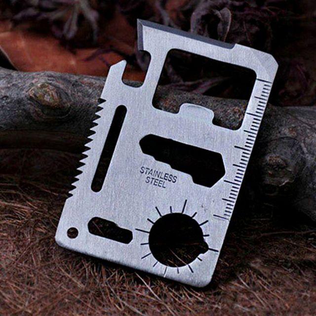 W 캠핑 등산 서바이벌 파이어 생존도구 카드 만능 툴킷