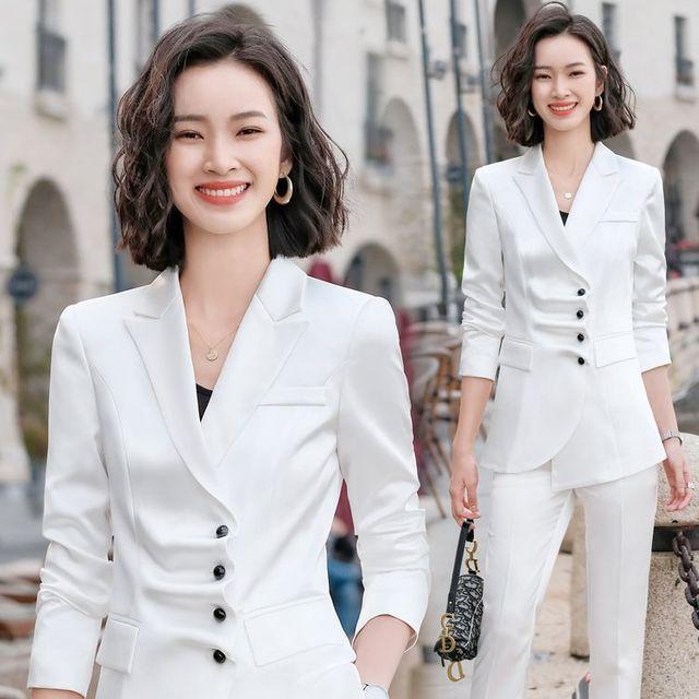 [해외] 여성 패션 재킷 자켓 정장세트인 기질 전문 바지