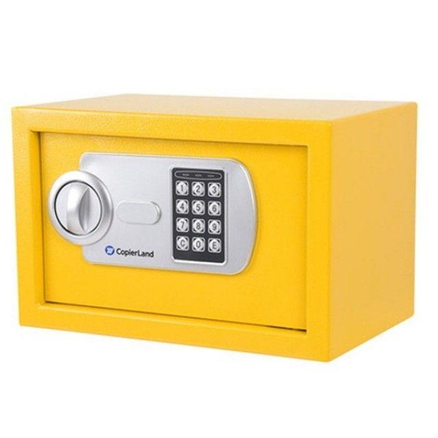 소형 금고 2중안전잠금장치 간단고정 CES 20 옐로우