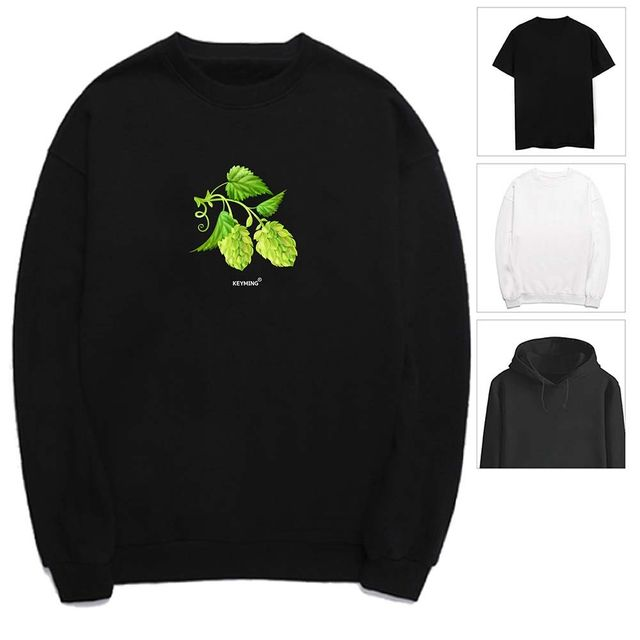 W 키밍 열매 잎새 여성 남성 티셔츠 후드 맨투맨 반팔