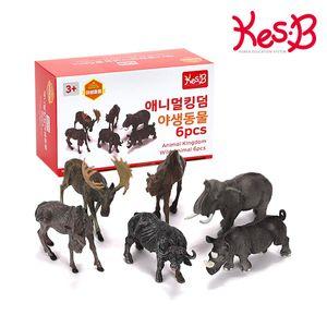 (캐스B)네이처 애니멀킹덤 야생동물 6pcs