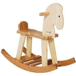 유아 어린이 조카 생일 선물 대나무 실내 목마 장난감