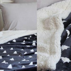 나무패턴 극세사 블랑켓 담요 그레이 침실 거실 이블