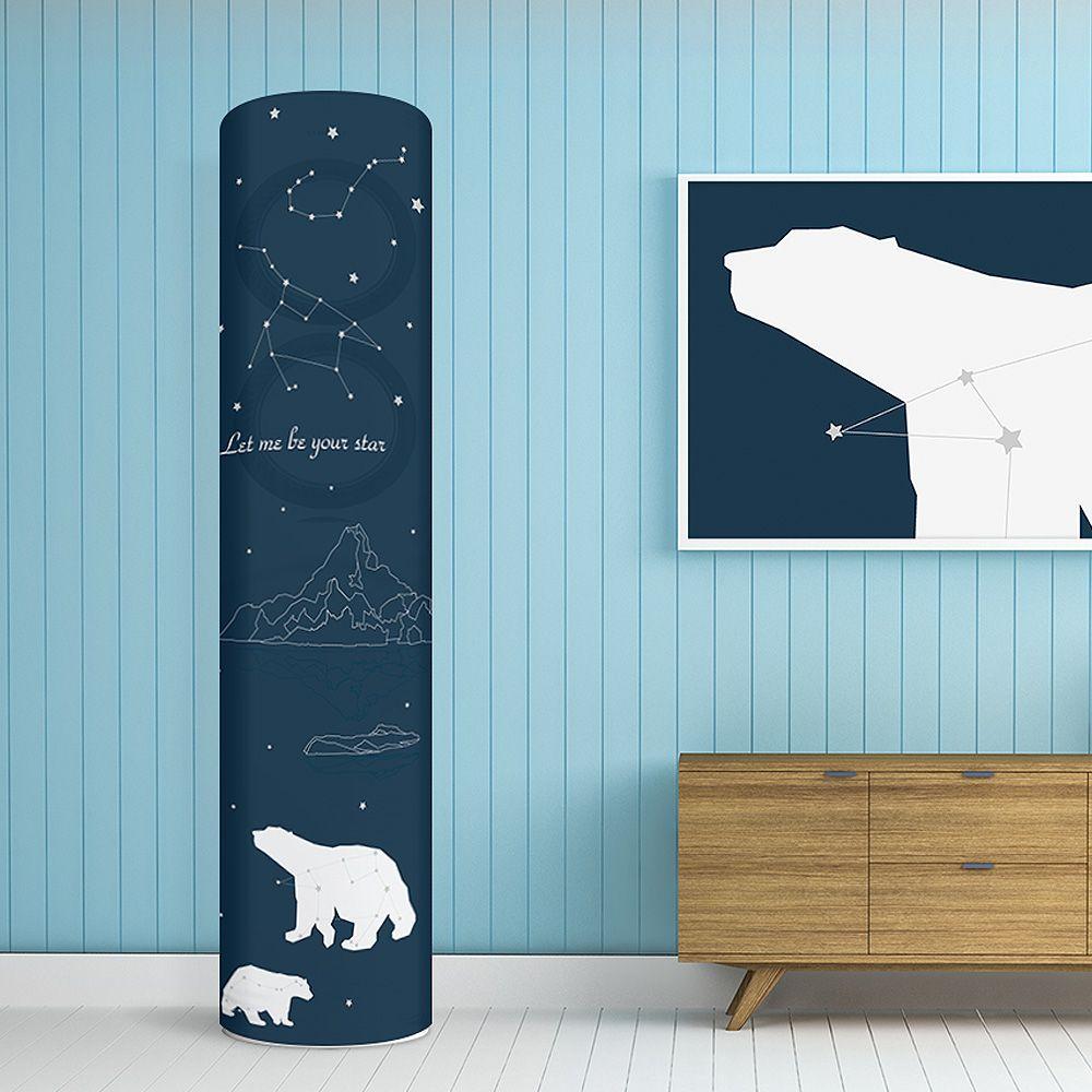 에어컨커버 스탠드형 원형 35x185 블랑베어-보호 덮개