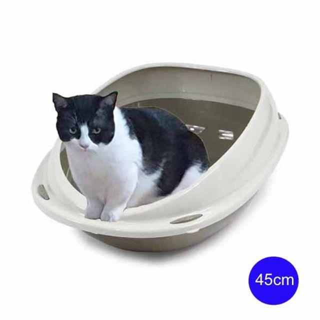 유선형 셔틀45 평판형 고양이 화장실 45cm(그레이)