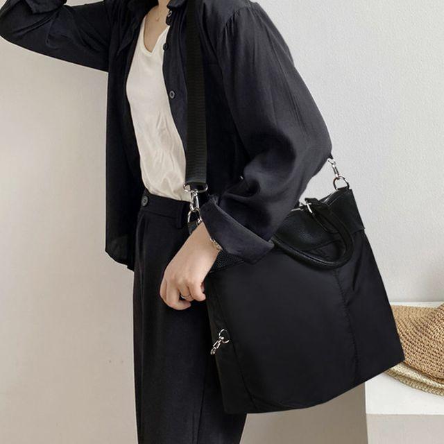 W 여성 가벼운 고급 데일리 패션 크로스 숄더백 토트백