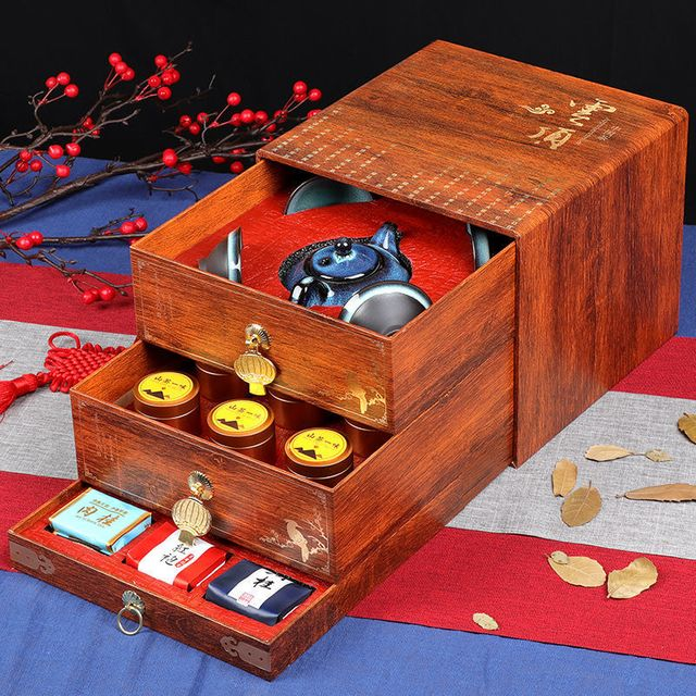 [해외] 중국 고급 보이차 푸얼차 선물세트 전통공예 고급포장