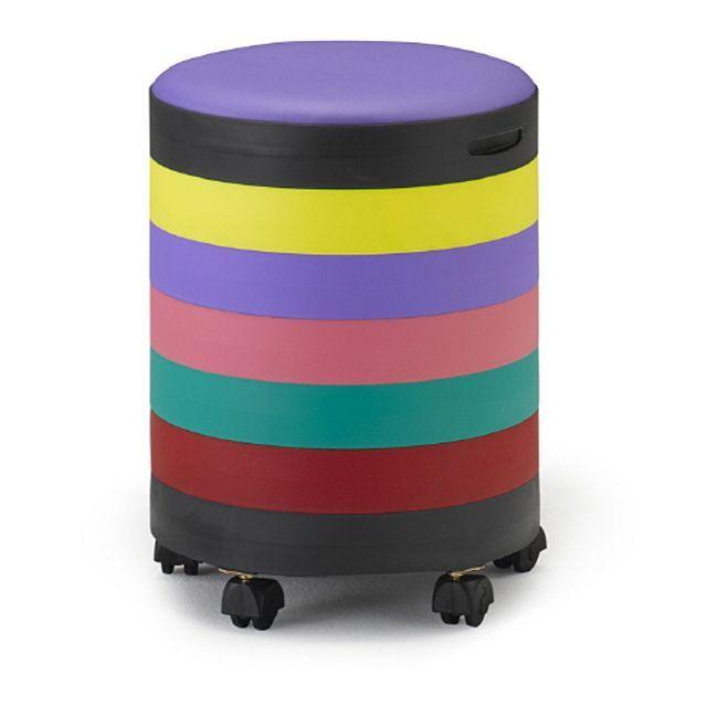 적층식 원형 수납 스툴 의자 바퀴 무지개 7단 다용도