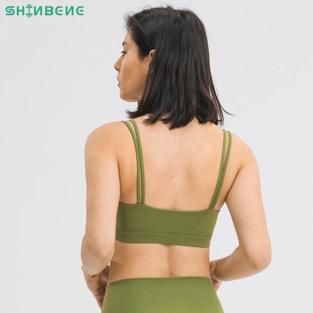[해외] SHINBENE U-Neck 패딩 트레이닝 운동 체육관 브래지어