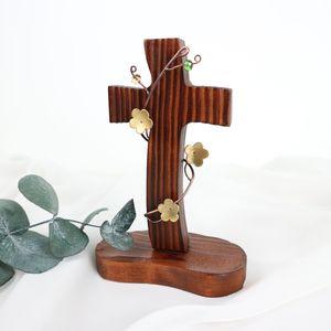 크리스탈넝쿨 탁상 십자가