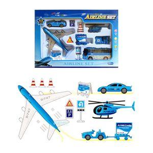 비행기 공항 놀이 세트 뉴에어라인 항공 장난감