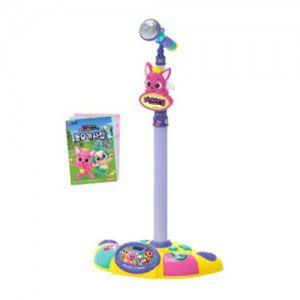 유아 스탠드 LED 마이크 어린이 핑크퐁 동요 장난감