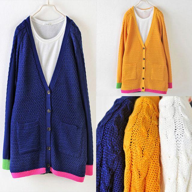 색연필 가디건 봄 가을 여성 데일리 패션 재킷