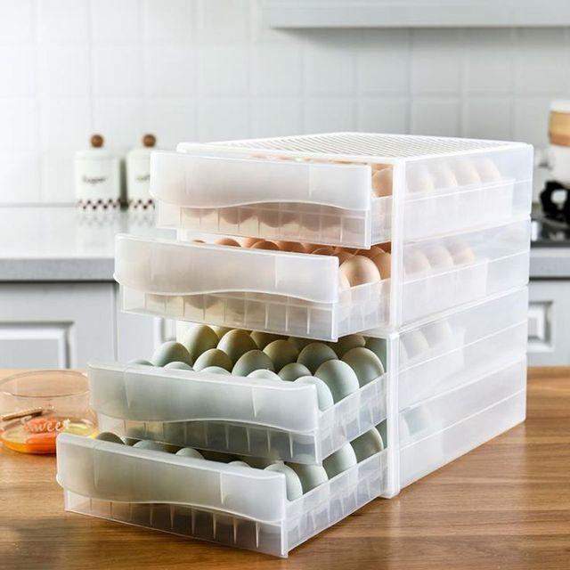W 키밍 서랍식 냉장고 계란 케이스 보관함 트레이