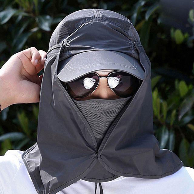 W 키밍 자외선 차단 모자 등산 탈부착 햇빛가리개 썬캡