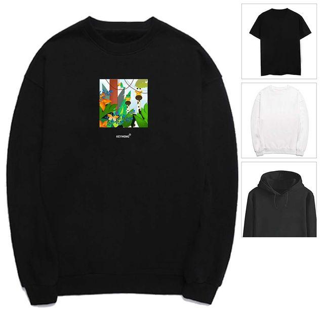 W 키밍 정글 숲 여성 남성 티셔츠 후드 맨투맨 반팔