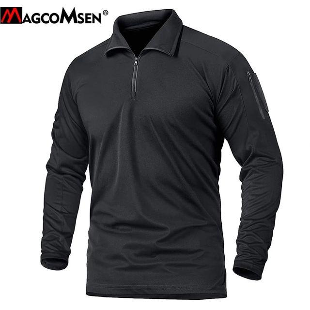 [해외] MAGCOMSEN Airsoft T 셔츠 남성 긴 소매 군사 육군 전