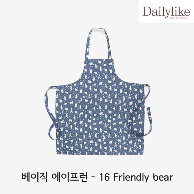 韩国直邮 超代理式16 Friendly bel1P印花围裙