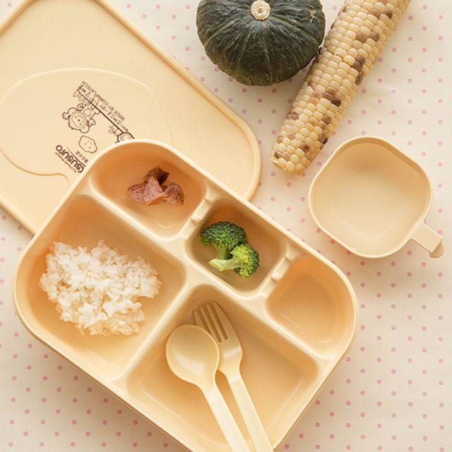옥수수로 만든 어린이집 유치원 유아식판 세트_단품