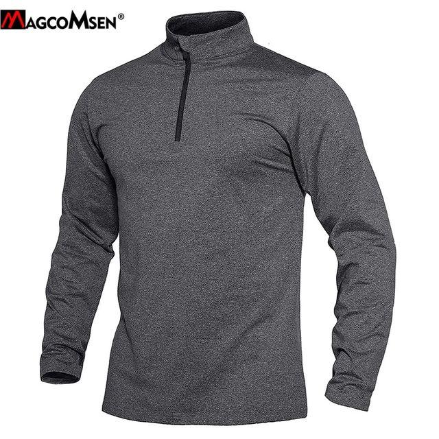 [해외] MAGCOSMEN 열 피트니스 티셔츠 남자 체육관 의류 긴