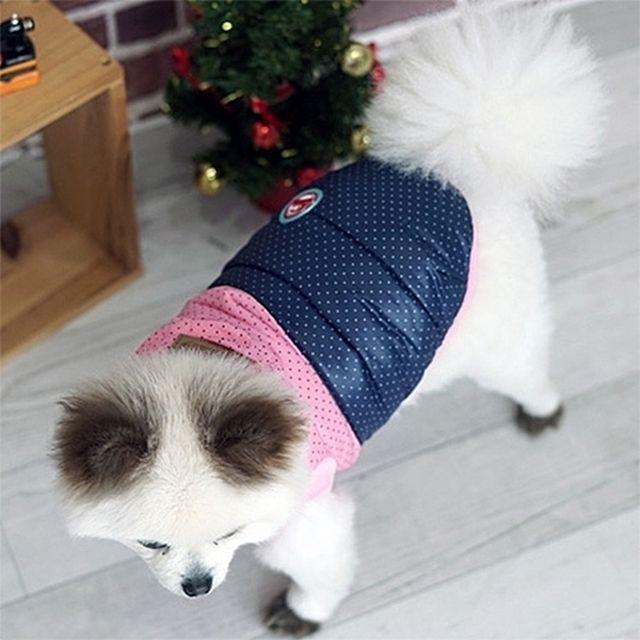 패리스독 쁘띠 도트패딩 _ 핑크네이비(S_XL)