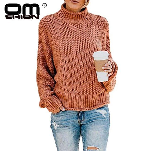 [해외] Omchion invierno mujer 2019 겨울 의류 터틀넥 솔리