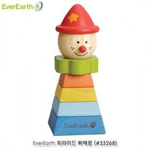 유아용 감각 놀이 도형 쌓기 피라미드 삐에로