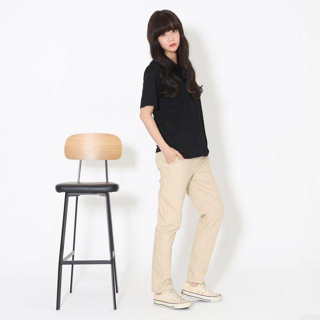 W 여자 9부팬츠 면바지 허리밴딩 간절기 편한외출복