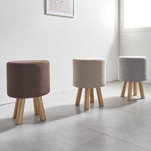 패브릭 원목 수납 스툴 화장대 의자 일반형