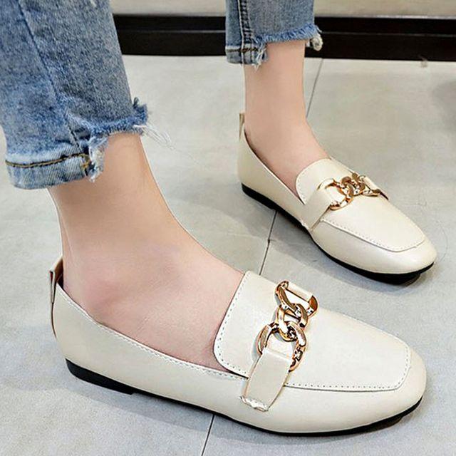 W 여자 외출 나들이 출근 패션 신발 깔끔한 낮은 구두