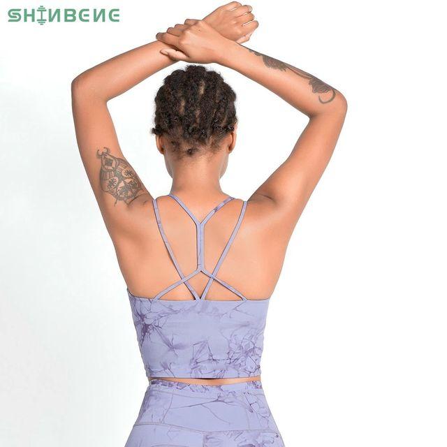 [해외] SHINBENE TIE DYE Strappy 운동 휘트니스 체육관 브래