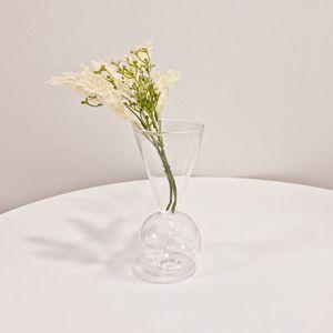 원뿔원형 투명 유리화병 꽃병