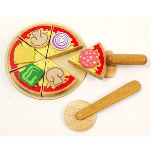 유아 어린이 원목 소꿉 주방 피자 만들기 놀이 세트