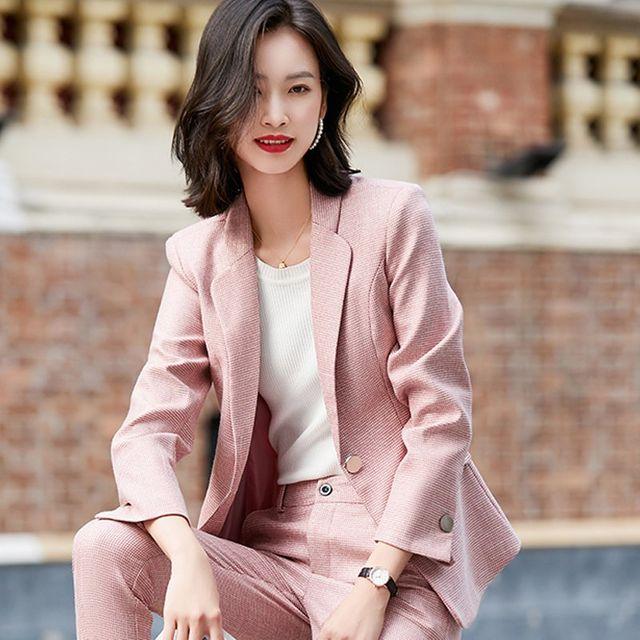 [해외] 여성 패션 재킷 자켓 정장세트인 고급 전문 정장