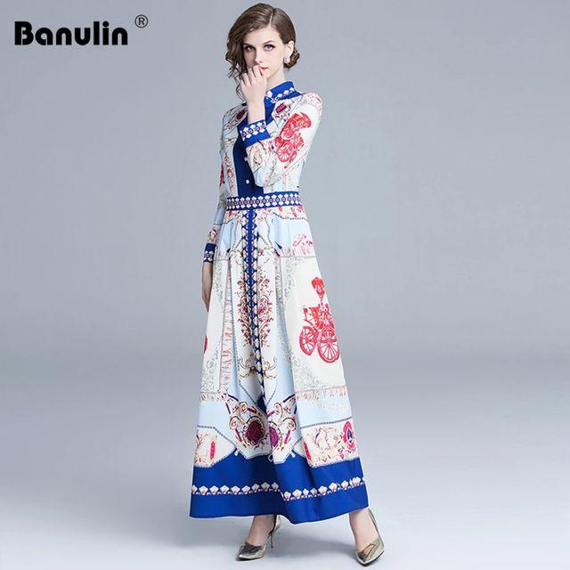 [해외] Banulin 여성 디자이너 드레스 봄 럭셔리 2021 활주로