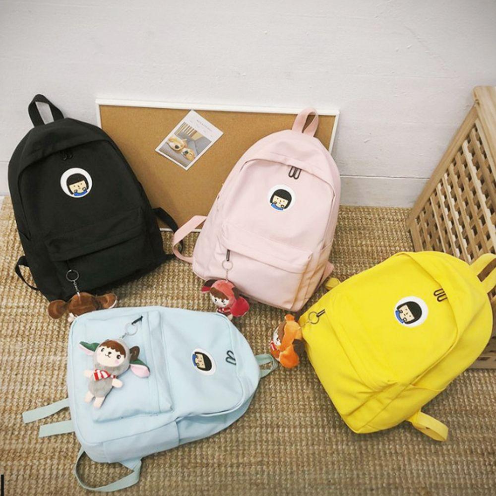 귀여운 중학생 고등학생 캔버스 백팩 가벼운 학생가방