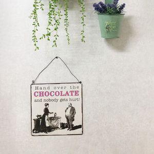 포인트 데코 빈티지스타일 초콜릿사인보드