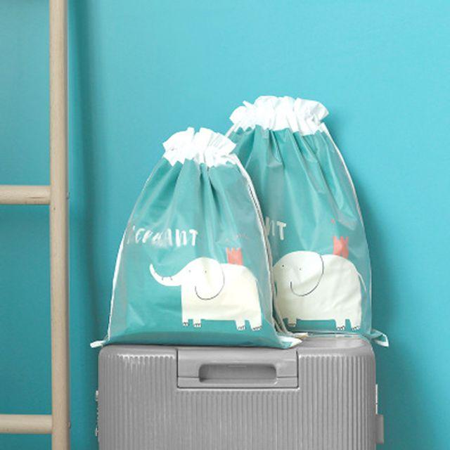 여행용 캐리어 비닐 예쁜 방수 퀵 파우치