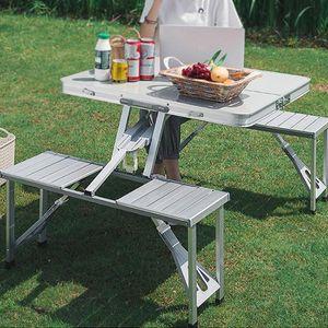 테이블 의자세트(4인용) 접이식 아웃도어 야외용 식탁