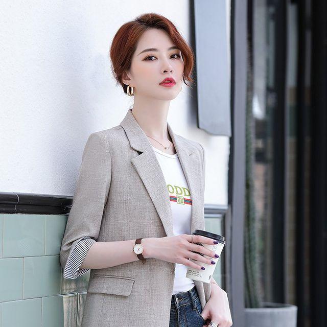 [해외] 여성 패션 재킷 자켓 정장세트로 분할 상단 여름