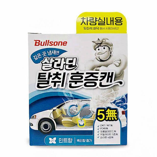 W 히터 에어컨 꿉꿉한 자동차 냄새 제거 훈증캔 민트향