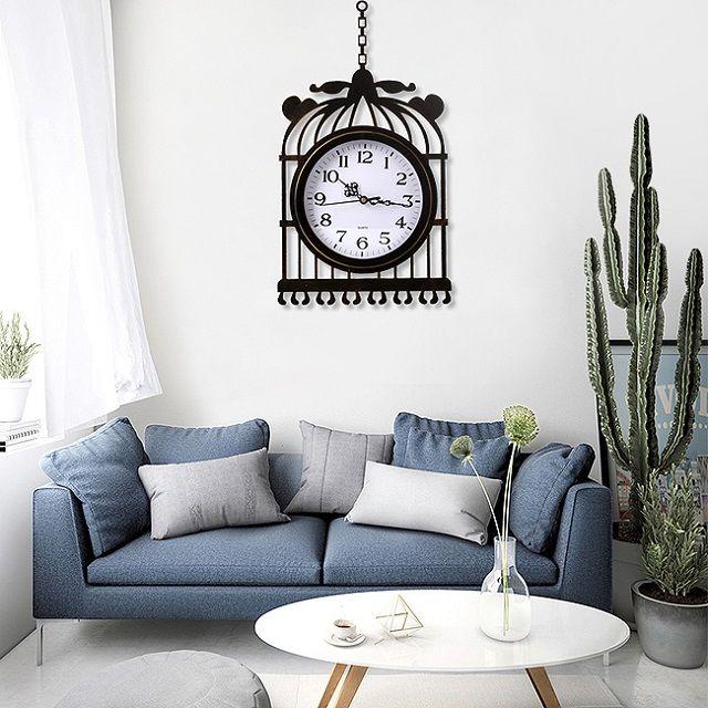 [현재분류명],레트로감성 엔틱 올드타임 벽시계(새장),탁상시계,알람시계,벽시계,인테리어벽시계