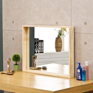 소나무 원목 사각거울 700