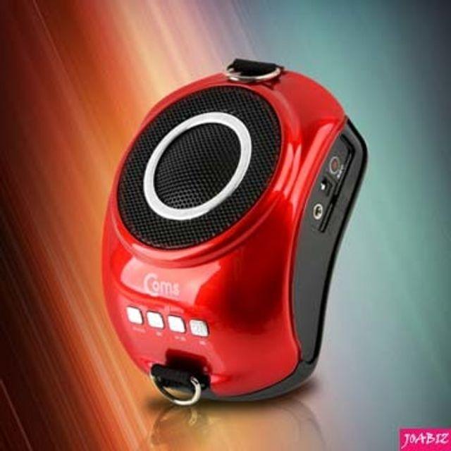 Coms Coms 휴대용 마이크 앰프 USBMicroSD FM 레드