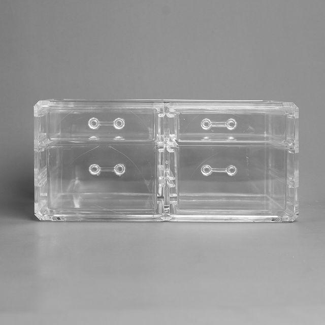 투명 액세서리 보관함 2단4칸 아크릴 화장품정리함