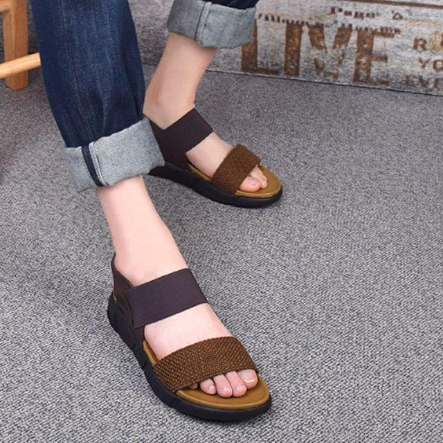 W 남성 데일리 샌들 여름 스트랩 신발 코디 패션 슬리퍼